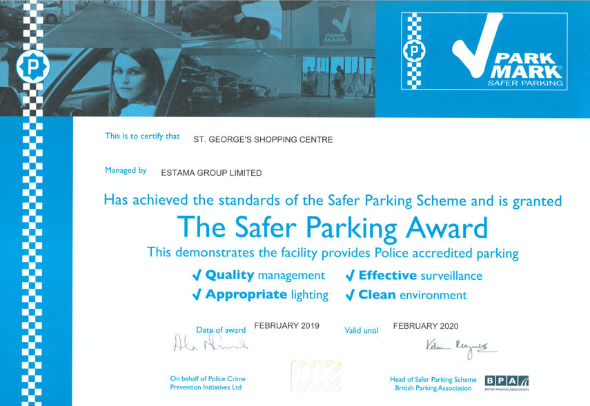 safer parking award
